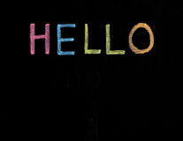 Hello written on blackboard Royalty Free Stock Images