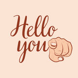 Hello you pharse Royalty Free Stock Images