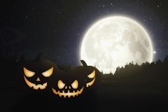 helloween南瓜背景 免版税库存照片