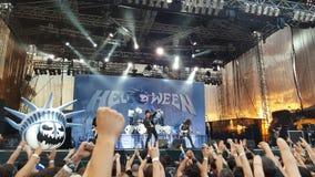 Helloween音乐会,布加勒斯特,罗马尼亚 免版税图库摄影