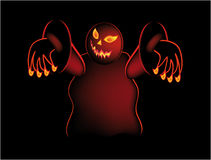 Helloween. Nice illustration like from a scary movie isolated on black Royalty Free Stock Photos
