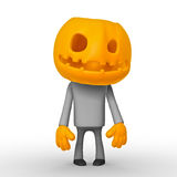 Helloween. Isolated cartoon 3D character on white background Stock Photos