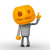Helloween. Isolated cartoon 3D character on white background Stock Image