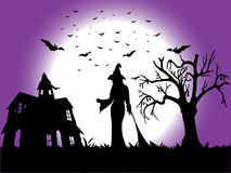 Helloween. Vector illustration of helloween background Royalty Free Stock Photo