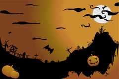 Helloween. 's night on the grave yard Stock Images