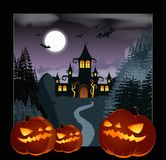 Helloween Background. Vector image of a dark Helloween Background Royalty Free Stock Images