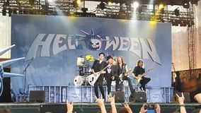 Helloween in concert Royalty Free Stock Image