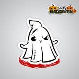 Helloween evil ghost voodoo doll pop art comic Royalty Free Stock Photos