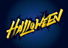 Helloween expressive lettering stock photos