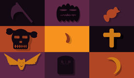 Helloween flat design. Set icon- Helloween flat design Stock Photography