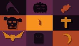 Helloween flat design Stock Photography