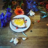 Helloween food decoration. With flowers Stock Images