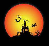 Helloween. Illustration of helloween on dark background Stock Photography