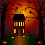 Helloween invitation and greeting card Stock Photo