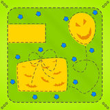 Helloween Karte Lizenzfreies Stockbild