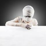 Halloween mummy. space for text. Stock Photos