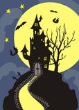 Helloween night. Holiday. Vector illustration Stock Photography