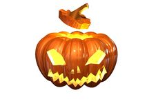 Helloween pumpkin. On white background Royalty Free Stock Photography