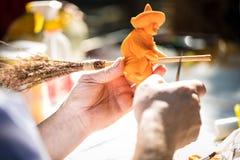 Helloween pumpkin carving Stock Photography