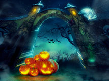 Helloween pumpkins Royalty Free Stock Image