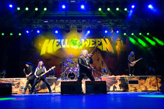 Helloween on Rock pod Kamenom fest in Snina, Slovakia Stock Image