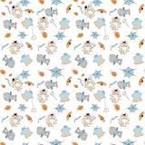 Helloween seamless flat vector pattern. Helloween seamless vector pattern for funny design Royalty Free Stock Images