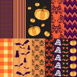 Helloween seamless patterns for scrapbooking. Helloween seamless patterns and elements for scrapbooking Royalty Free Stock Photo