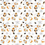 Helloween seamless flat vector pattern. Helloween seamless vector pattern for funny design Stock Images
