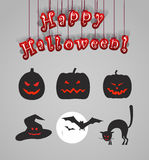Helloween silhouettes clip-art Royalty Free Stock Photo