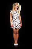 Helloween. Young pretty blond woman in a helloween outfeet Royalty Free Stock Photos