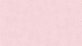 Hellrosa sauberer abstrakter geometrischer Hintergrund Minimale dünne Linien bewegen sich endlos Erblassen Sie rosafarbenes nahtl stock abbildung