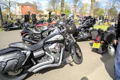 Hells Angel motorcycles. Royalty Free Stock Photography