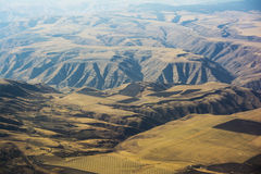 Hells Canyon and Farm Land From Above Royalty Free Stock Photos