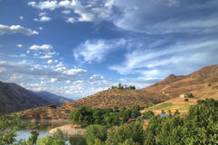 Hells Canyon landscape. Scenic view of landscape surrounding Hells Canyon, Idaho, U.S.A royalty free stock photos