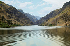 Hells Canyon on Snake River Stock Image