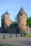 Hells Gate (Helpoort) and city wall tower Maastric Stock Photography