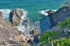 Hells Gate in Noosa National Park in Queensland, Australia. Royalty Free Stock Images