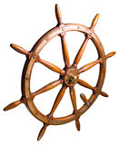 Helm. A steering wheel is on a white background Stock Photography