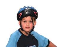 Helm achteruit Stock Foto