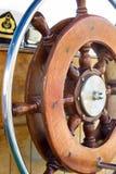 Helm auf einem Segelboot Lizenzfreie Stockfotos