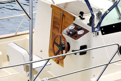 Helm of a boat Stock Image