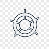 Helm concept vector linear icon isolated on transparent background, Helm concept transparency logo in outline style royalty free illustration
