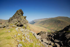 Helm Crag. From Helm Crag to Helvellyn Stock Photos