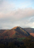 Helm Crag English Lake District. In late Autumn with copy space Stock Image