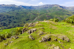 Helm Crag. View of Grasmere from the hills leading up to Helm Crag, Lake District; Cumbria; UK Royalty Free Stock Photos