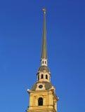 Helm des Peter und des Paul Cathedrals. St Petersburg Stockfoto