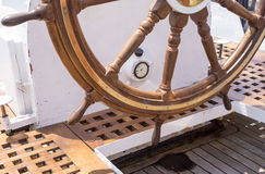 Helm des Segelboots Lizenzfreies Stockfoto