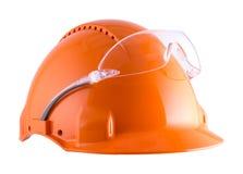 Helm en beschermende brillen Royalty-vrije Stock Afbeeldingen