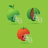 Helm en fruit Stock Illustratie