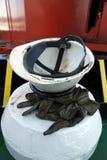 Helm en handschoenen Royalty-vrije Stock Afbeeldingen